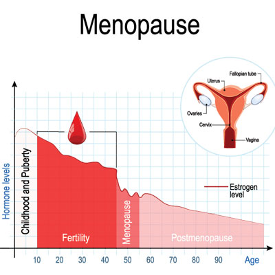 Hormone replacement therapy for menopause treatment